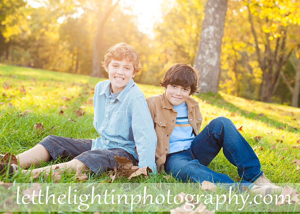Two boys at Manassas Battlefield by Let the Light in Photography from Bristow Virginia