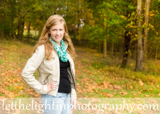 Standing pose for girl Senior Portraits by local Haymarket Photographer