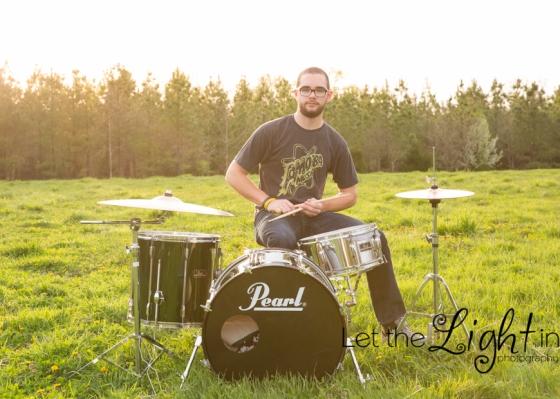 Drummer in an open field in Nokesville VA